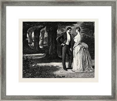 Man And Woman, 1888 Engraving Framed Print