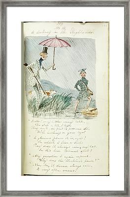 Man And Woman Beside Highland Loch In Rai Framed Print