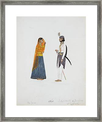 Man And Woman From Jammu Framed Print by British Library