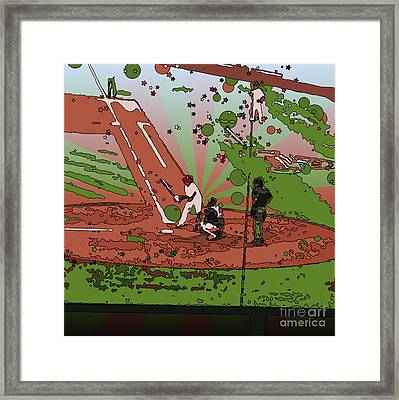 Man At Bat Framed Print by Terry Weaver
