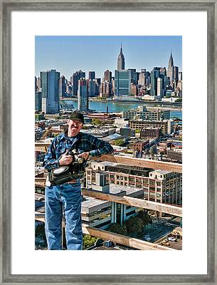 Man At Work Framed Print