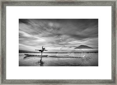 Man Behind The Nets Framed Print by Arief Siswandhono