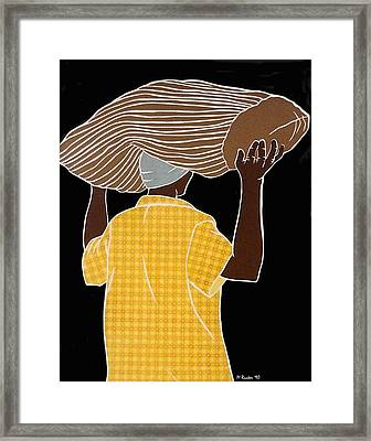 Man Carrying A Sack Framed Print