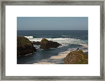 Man Fishing Framed Print