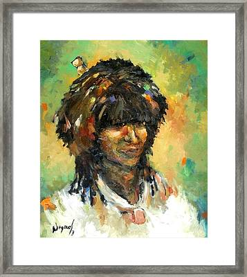man from East Framed Print by Negoud Dahab