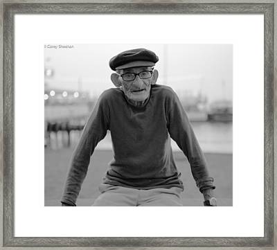 Man From Sorrento Framed Print by Corey Sheehan
