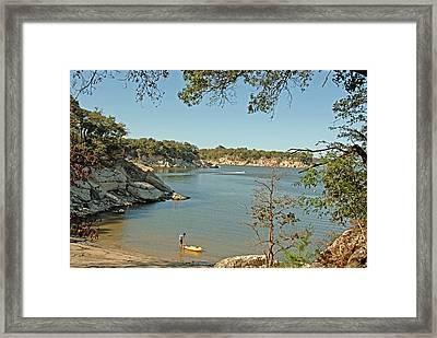 Man Going Kayaking Framed Print