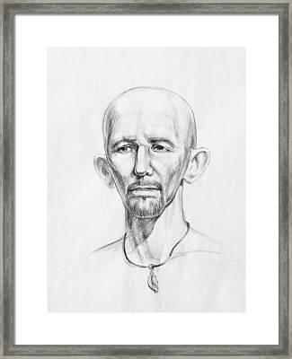 Man Head Study Framed Print