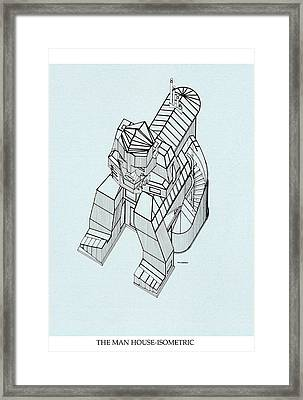 Man House Framed Print by Vince MacDermot