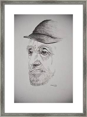 Man In Cap Framed Print by Glenn Calloway