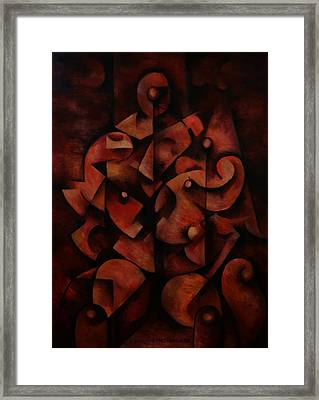 Framed Print featuring the painting Man In Chair by Kim Gauge