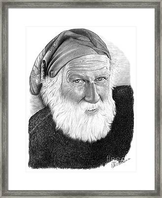 Man In Head Scarf Framed Print