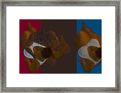 Man In Man Out Framed Print