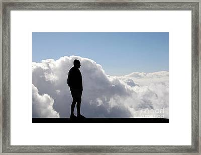 Man In The Clouds Framed Print