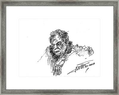 Man In The Corner Framed Print by Ylli Haruni