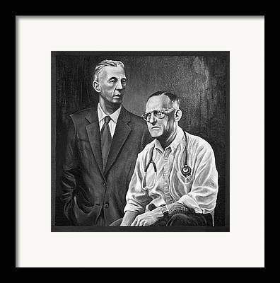 Monotone Paintings Framed Prints