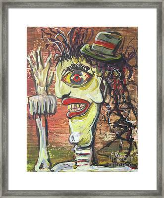 Man In The Hat Framed Print