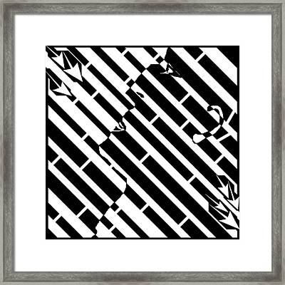 Man In The Madness Maze Framed Print by Yonatan Frimer Maze Artist