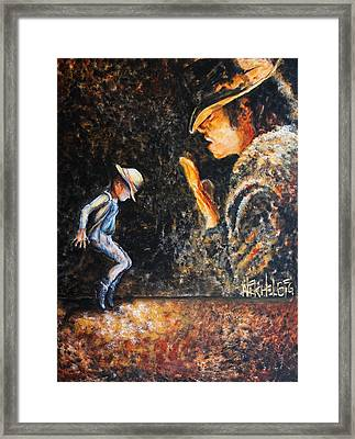 Man In The Mirror Framed Print by Nik Helbig