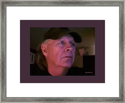 Man In The Mirror Framed Print by Wayne Bonney