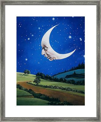 Man In The Moon Framed Print by Carol Heyer