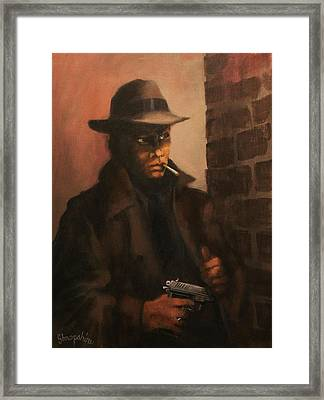 Man In The Shadows Framed Print by Tom Shropshire