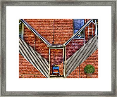 Man In The Window Framed Print