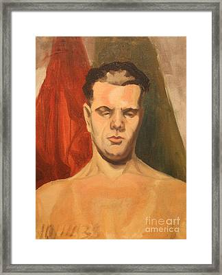 Man In Thought 1930s Framed Print