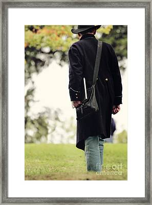 Man In Union Uniform Framed Print