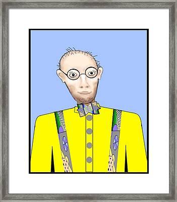 Man In Yellow Shirt Framed Print by Carol Shoemaker