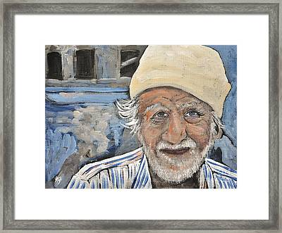 Man India Framed Print by Reb Frost