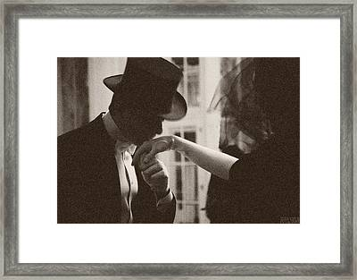 Man Kissing A Womans Hand Framed Print by Beverly Brown