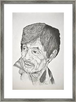 Man Looking Back Framed Print by Glenn Calloway