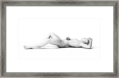 Man Lying Down Framed Print by Sebastian Kaulitzki