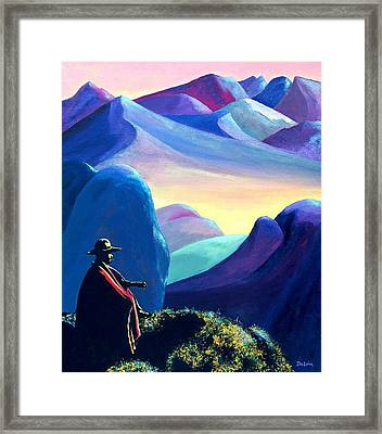 Man Meditating Framed Print by Susan DeLain