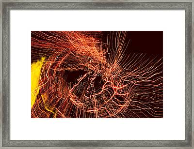 Framed Print featuring the digital art Man Move 0052 by David Davies