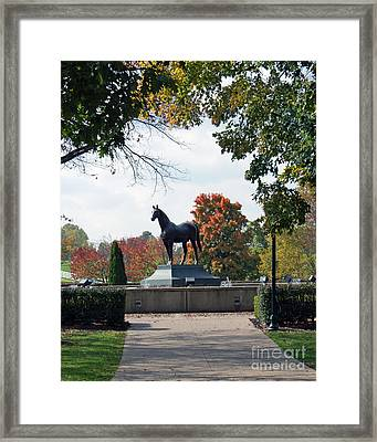 Man O' War Statue  Framed Print