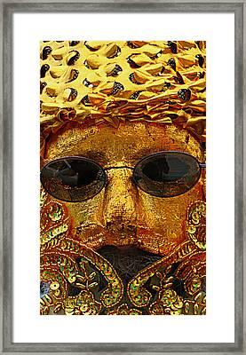 Man Of Gold  Mardi Gras Framed Print by Sherry Dooley