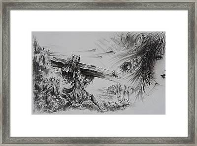 Man Of Sorrows Framed Print by Rachel Christine Nowicki