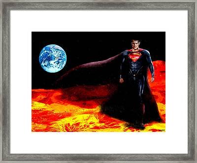 Man Of Steel Framed Print by Daniel Janda