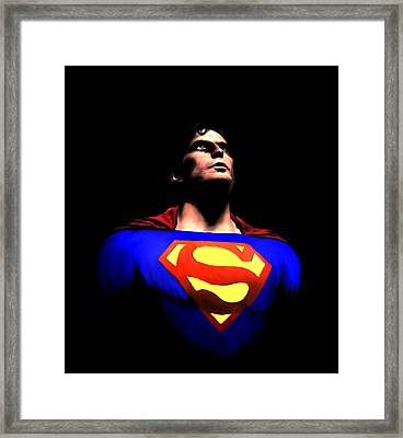 Man Of Steel Framed Print by Jeff DOttavio