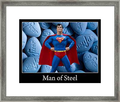 Man Of Steel Framed Print by William Patrick