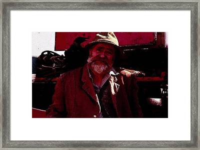 Framed Print featuring the digital art Man Of The Sea by Cathy Anderson
