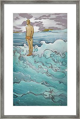 Man On Edge Framed Print