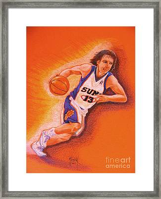 Man On Fire Framed Print