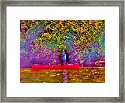 Man On River Framed Print