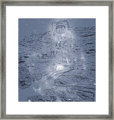 Man On The Moon Framed Print by Dan Sproul