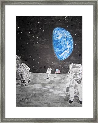 Man On The Moon Framed Print by Kathy Marrs Chandler