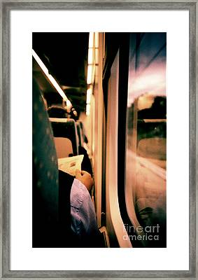 Man On Train - Lomo Lca Xpro Lomographic Analog 35mm Film Framed Print by Edward Olive