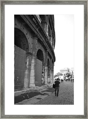 Man Outside Framed Print